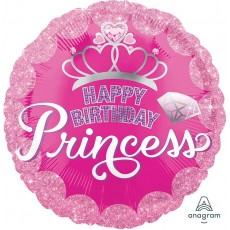 Princess Standard HX Crown & Gems Foil Balloon