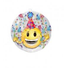Round Emoji Insiders Emoticon Party Hat Foil Balloon