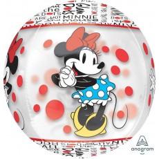 Orbz XL Minnie Mouse Clear Shaped Balloon 38cm x 40cm