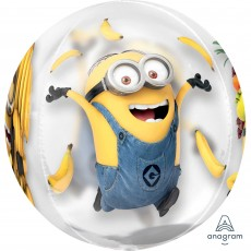 Minions Despicable Me Clear Shaped Balloon