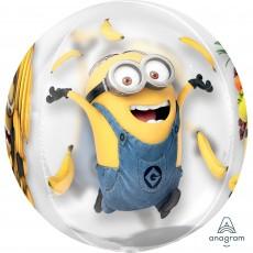 Orbz XL Minions Despicable Me Clear Shaped Balloon 38cm x 40cm