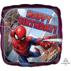 Square Spider-Man Standard HX Happy Birthday Foil Balloon 45cm