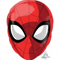 Spider-Man Head Junior XL Shaped Balloon 30cm x 43cm