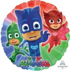 Round PJ Masks Standard HX Foil Balloon 45cm