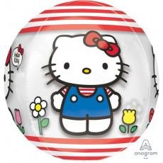 Orbz XL Clear Hello Kitty Shaped Balloon 38cm x 40cm