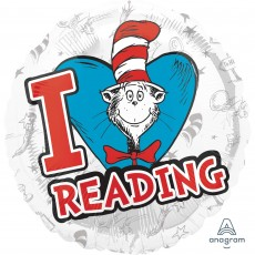 Dr Seuss Hats Off to Reading Standard HX Foil Balloon