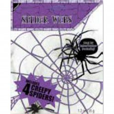 Halloween Party Supplies - Misc Decorations - Small White Spider Web