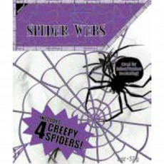 Halloween Spider Web with Spiders Misc Decoration