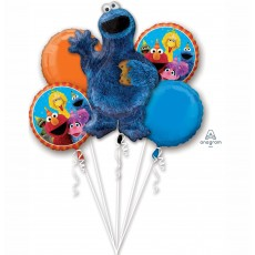 Sesame Street Cookie Monster Bouquet Foil Balloons