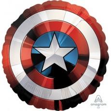 Round Jumbo Shape HX Avengers Shield Foil Balloon 71cm