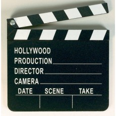 Hollywood Black Die-Cut Clapboard Misc Decoration