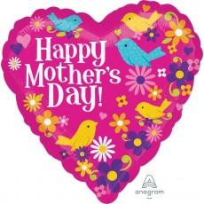 Mother's Day Birds & Flowers Foil Balloon