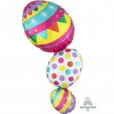 Easter SuperShape XL Egg Stack Shaped Balloon