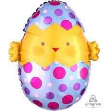 Easter Junior Chick & Eggs Foil Balloon