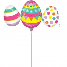 Easter Egg Trio Mini Shaped Balloon