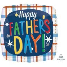 Father's Day Standard HX Plaid Foil Balloon