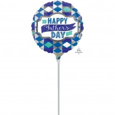 Father's Day Standard HX Diamonds Foil Balloon