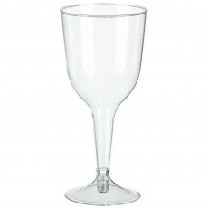 Clear Wine Glass Big Party Plastic Glasses 295ml Pack of 20