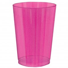 Multi Colour Neon ed Tumbler Plastic Glasses