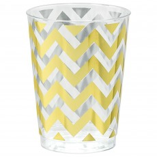 Chevron Design Gold Premium Tumbler Plastic Glasses
