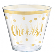 New Year Tumblers Plastic Glasses