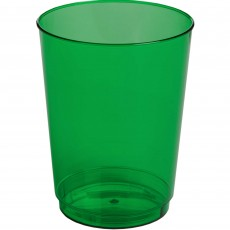 Green Festive Big Party Tumbler Plastic Glasses