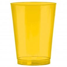Sunshine Yellow Big Party Tumbler Plastic Glasses 295ml Pack of 72
