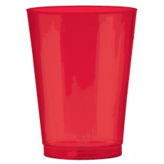 Apple Red Tumbler Big Party Plastic Glasses 295ml Pack of 72
