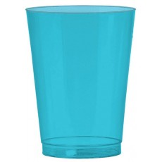 Caribbean Blue Tumbler Big Party Plastic Cups 295ml Pack of 72
