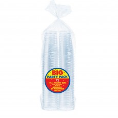 Clear Tumblers Big Party Plastic Glasses 295ml Pack of 72