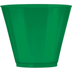 Festive Green Big Party Tumbler Plastic Glasses 266ml Pack of 72