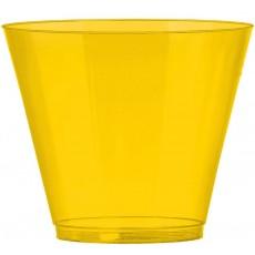 Sunshine Yellow Big Party Tumbler Plastic Glasses 266ml Pack of 72