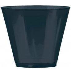 Jet Black Tumbler Big Party Plastic Cups 266ml Pack of 72
