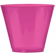 Bright Pink Big Party Tumbler Plastic Glasses 266ml Pack of 72