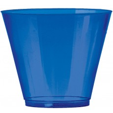 Bright Royal Blue Tumbler Big Party Plastic Cups 266ml Pack of 72