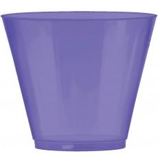 New Purple Big Party Tumbler Plastic Glasses 266ml Pack of 72