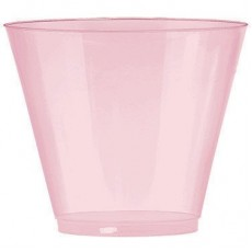 New Pink Big Party Tumbler Plastic Glasses 266ml Pack of 72