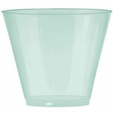 Robin's Egg Blue Tumbler Big Party Plastic Cups 266ml Pack of 72