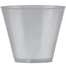 Silver Big Party Tumbler Plastic Glasses 266ml Pack of 72