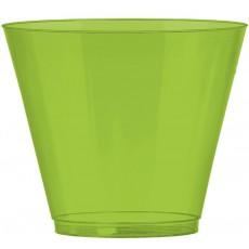 Kiwi Green Tumbler Big Party Plastic Glasses 266ml Pack of 72