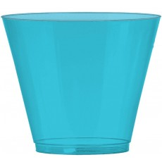 Caribbean Blue Tumbler Big Party Plastic Cups 266ml Pack of 72