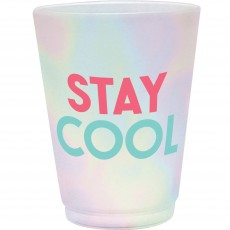 Hawaiian Just Chillin Frosted Tumbler Plastic Glasses