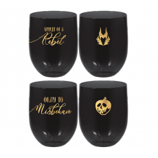 Disney Villains Stemless Plastic Glasses