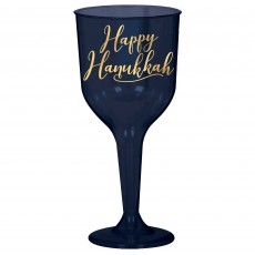 Hanukkah Wine Glass Plastic Glasses