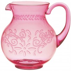 Boho Vibes Pink Floral Pitcher Jug Container