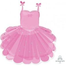 Pink SuperShape XL Ballerina Tutu Shaped Balloon