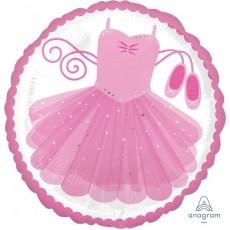 Pink Standard HX Ballerina Tutu Foil Balloon