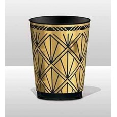 Glitz & Glam Black & Gold Tumblers Plastic Cups