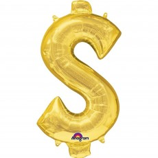 Gold Dollar Sign CI: $ Shaped Balloon 40cm