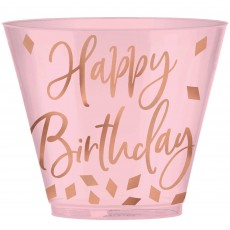 Blush Birthday Party Supplies - Plastic Cups Tumblers